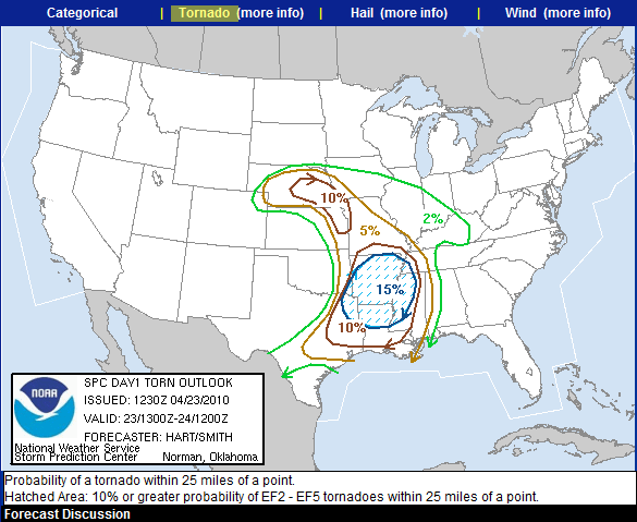 SPC Outlook for 4-23-2010